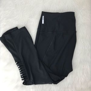 RBX Reebok Mesh Side Cutout Crop Leggings